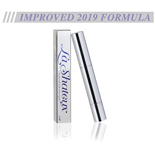 #1 Best Selling Premium Teeth Whitening NON PEROXIDE Pen - 40+ Uses - 4ml - No Sensitivity - Non Peroxide Formula - Healthy Teeth Whitening - Snow White Teeth - By La Shateux