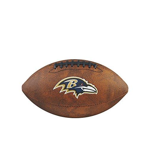 Baltimore Ravens Brown Leather - NFL Junior Throwback Team Logo Football - Baltimore Ravens