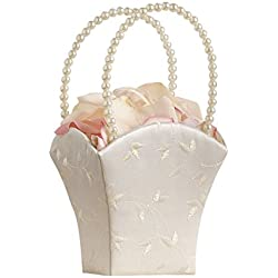 Lillian Rose Elegant Wedding Flower Girl Basket Ivory