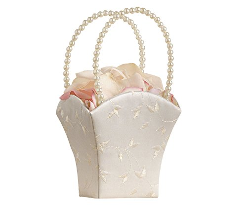 - Lillian Rose Elegant Wedding Flower Girl Basket Ivory