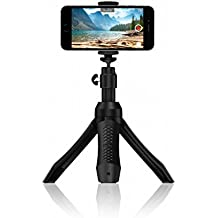 IK Multimedia Smartphone Stand - Tripod, Monopod, Camera Mount and Grip with Bluetooth Shutter, Black