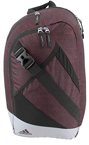 adidas Unisex Citywide Sling Backpack, Jersey Collegiate Burgundy/Grey, ONE SIZE