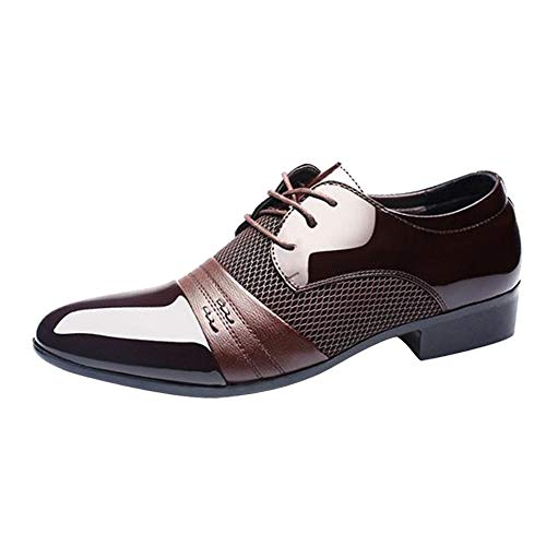 Gift Ideas!!! Teresamoon Men Business Shoes Fashion Casual Oxford Shoes Lace-Up Pointed Shoes