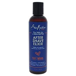 Shea Moisture Tea Tree Oil & Shea Butter After Shave Elixir for Men, 4 Ounce