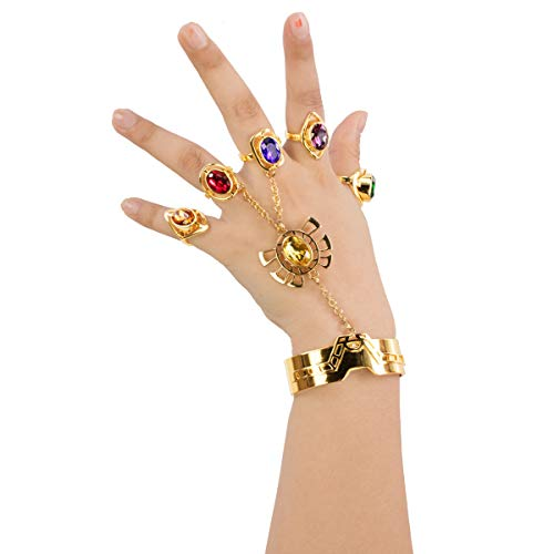 Thanos Bracelet and Rings Jewelry Accessories for Couples (Copper)