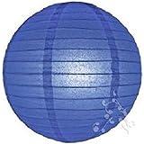 Hl - Lampion boule chinoise bleu marine 40 cm