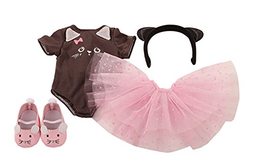 """Gotz Combination Kitten Dreams 4 Piece Outfit for 18"""" and 19.5"""" Standing Dolls"""