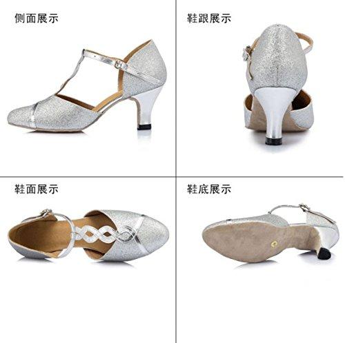 Des Mädchens Der Frauen Professional Latin Schuhe Obermaterial Satin Sandalen Salsa / Ballroom Dance Schuh Med (weitere Farben) 40