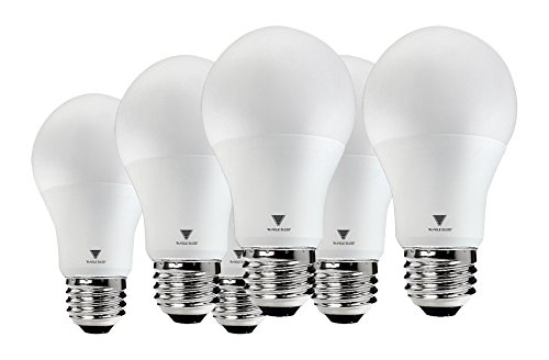 Triangle Bulbs T95133-6 A19 LED 60 Watt Equivalent Soft White (3000K) Light Bulb, 6 Pack