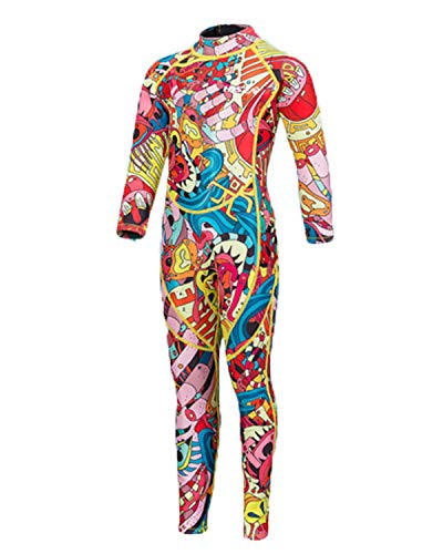 STEELEMENT. Kids Diving Suit Swimsuit Zipper Up Wetsuits Drysuits Boys Girls 2.5mm Full(SWS02-6T)