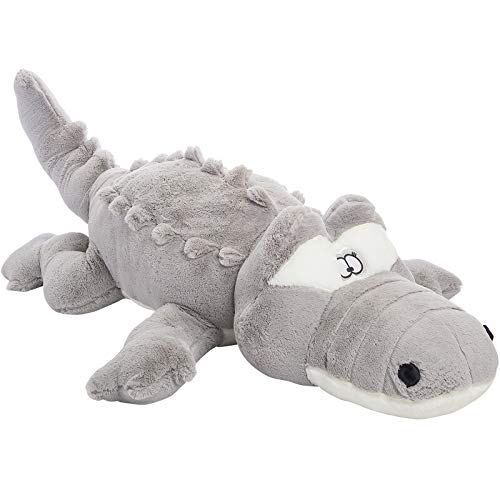 (MorisMos Big Crocodile Stuffed Animal,Gray Alligator Hugging Pillow,Plush Toy,Gift for Kids Girlfriend,51 Inches )