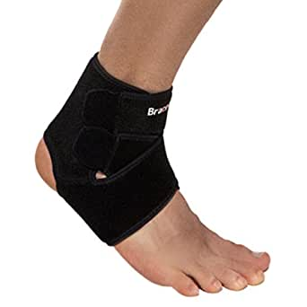 BraceUP® Adjustable Ankle Support with compression straps, Reduce Bacteria One Size Adjustable