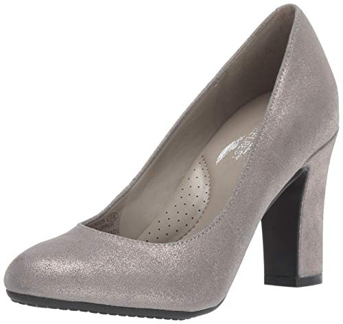 Aerosoles Women's OCTAGON Pump, silver leather, 7 M -