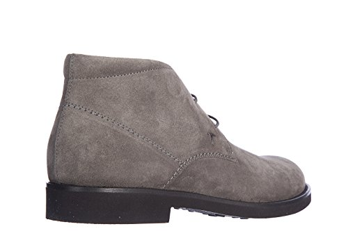 Tods Mens Suede Desert Boots Lace up Ankle Boots Rubber Light Grey gQl82pSqbz