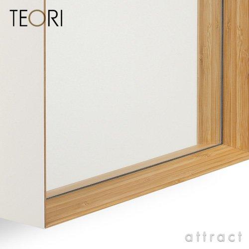 TEORI テオリ 竹集成材プロジェクト ZERO KAKU ゼロカク ミラー 鏡 (乳白) B00BGZ6FCK 乳白 乳白