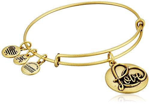 Alex and Ani Love III Expandable Rafaelian Gold Bangle Bracelet