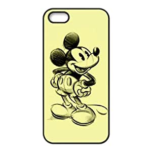 IPhone 5,5S Phone Case for Classic theme Disney Mickey Mouse Minnie Mouse cartoon pattern design GDMKMM940432