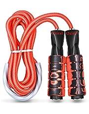 Oziral Springtouw Speed Jump Rope Sport touw springen met herinnering schuimgrepen lengte instelbaar voor vrouwen en mannen fitness training en boksen Crossfit oefening