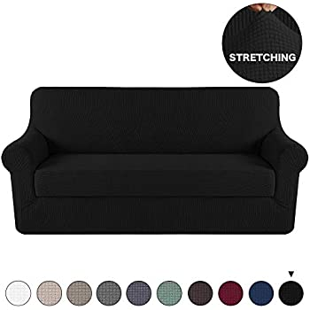 Amazon Com Turquoize Black Sofa Slipcover 4 Seater Couch