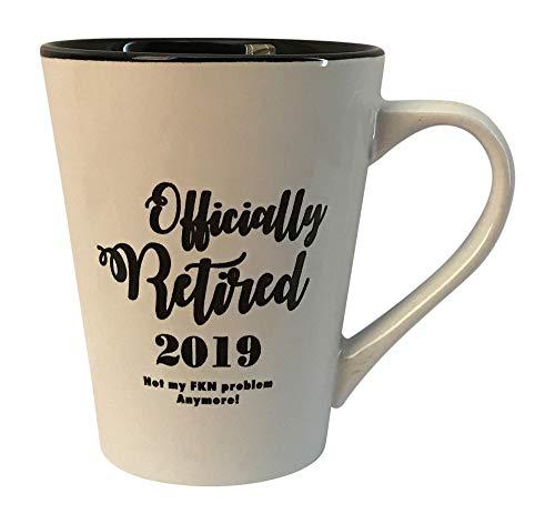 Retirement Gag Gifts for Women or Men, Funny 2019 Ceramic Coffee Mug