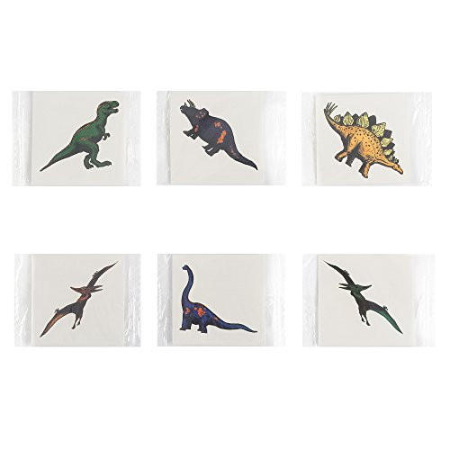 Fun Central AZ959, 72 Pcs Assorted Cool Dinosaur Tattoos, Dinosaur Temporary Tattoos Kit, Fun Temporary Tattoos for Kids and Boys -