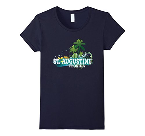 Womens St. Augustine Florida T-shirt Summer Fun Vacation Tee Small - St Augustine Women And