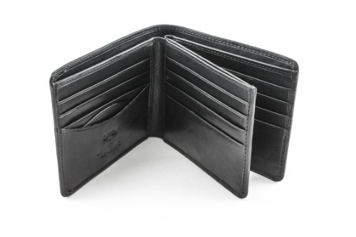 Italian Leather Credit Card Wallet - Italian Cow Leather Classic Bifold Multi Credit Card Wallet