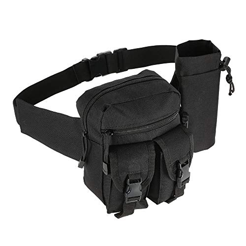 Tactical Molle Bag Waist Bag Fanny Pack Hiking Fishing Hunting Waist Bags Tactical Sports Hip Belt Bag Outdoor Travel Military Equipment Gear Black one Size