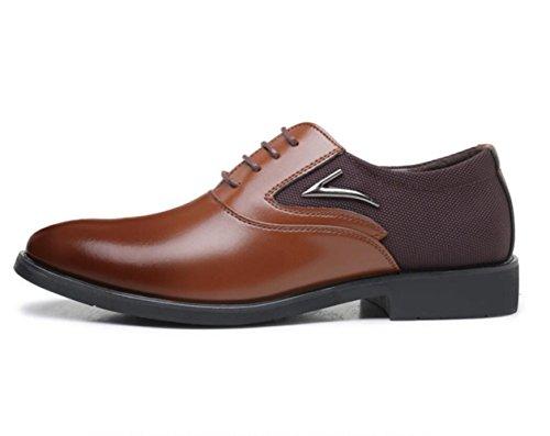 Para Cuero Microfibra Brown Zapatos Formal De Linyi Desgaste Hombre Vestir Punta Diario qgZ4ntwa