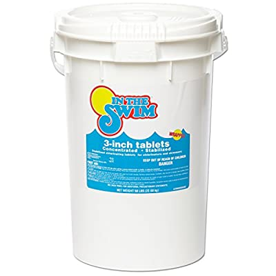 In The Swim 3 Inch Swimming Pool Chlorine Tablets 50 lbs by In The Swim