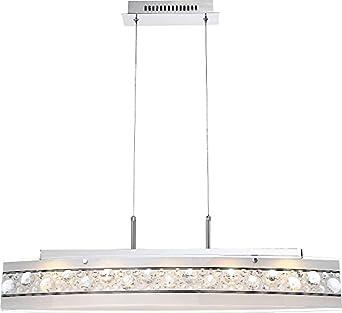 LED Hngeleuchte 6 Flammig Esszimmer Lampe Hngelampe Pendelleuchte Kristalle Pendellampe Deckenlampe Wohnzimmer