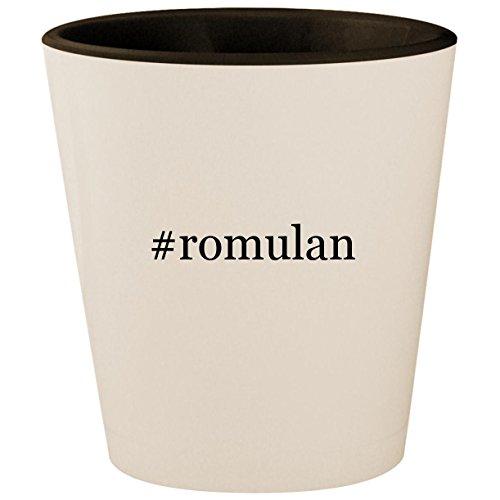 #romulan - Hashtag White Outer & Black Inner Ceramic 1.5oz Shot Glass ()