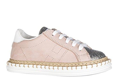 Hogan Rebel chaussures baskets sneakers enfant filles en cuir neuves r260 allacc