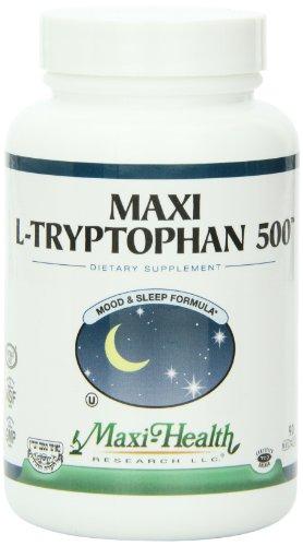 Maxi L-tryptophane (500 mg) 90 Capsules, bouteille de 3 onces
