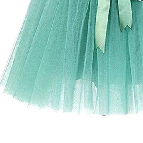 Filles 50 Femmes N avec Tulle Deux Style Couleurs pour Jupe Boucles ud FuweiEncore Ballet Vert Courte en Jupe Varies Annes Tutu xw66Bzq