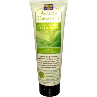 Avalon Organics Moisturizing Shave Cream, Aloe Unscented - 8 oz - 2 pk by Avalon