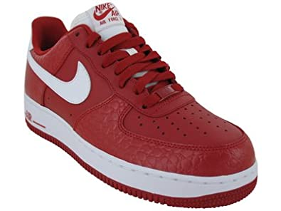 Men Nike Air Force 1 Low Red White UK Shoes