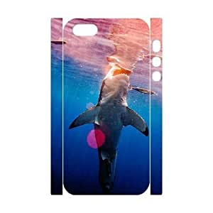 3D Bumper Plastic Customized Case Of Deep Sea Shark for iPhone 5,5S by lolosakes