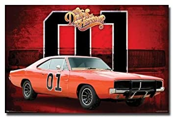 the dukes of hazzard poster general lee car 01 new