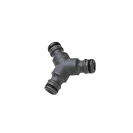 Gardena Y-Stück zur Schlauchabzweigung Anschluss zum Übergang von 19mm 3//4 Zoll