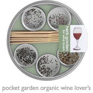 Organic Herbs for Wine Lover's Pocket - Tin Art Recycled
