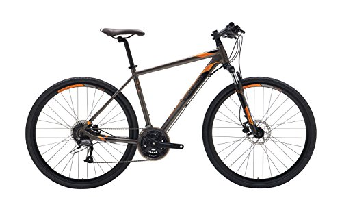 "Polygon Bikes Adult Heist 2 Bicycle, Raw/Orange, 43""/XX-Small"