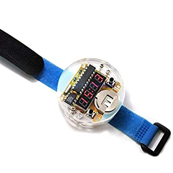 Smart Electronic Single-chip LED Watches Electronic Clock kit DIY LED Digital Watch Electronic Clock Kit with Transparent Cover: Amazon.com: Industrial & ...