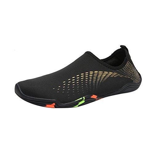 Leezo Unisex Adult Barefoot Quick Dry Water Sports Beach Shoes Aqua Socks Yellow