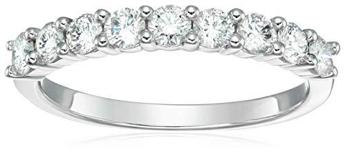 Vir Jewels 3/4 cttw Diamond Wedding Band in 14K White Gold 9 Stones Size 6