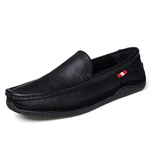morbida da per pelle traspirante da piatte EU guida Colore Nero Vera uomo 43 barca Rosso scarpe ZHRUI Dimensione casual suola pE7Iq5x