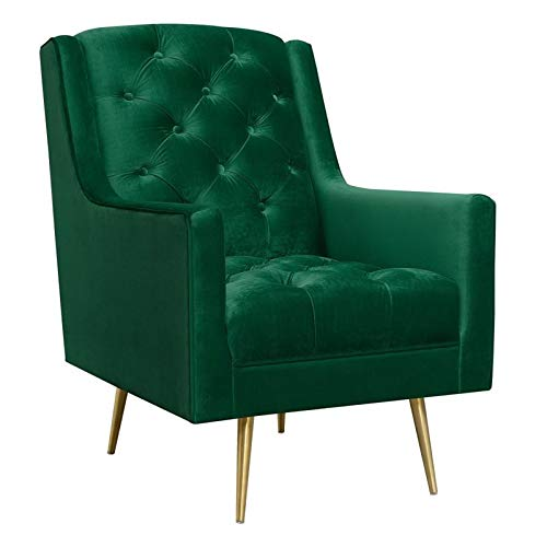 Picket House Furnishings Reese Button Tufted Accent Chair in Emerald