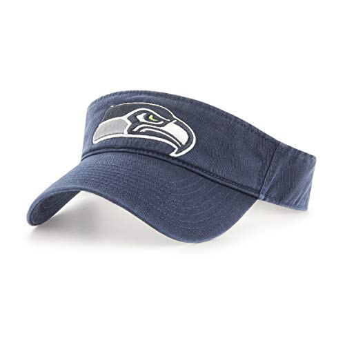 OTS NFL Seattle Seahawks Male Visor, Navy, One Size