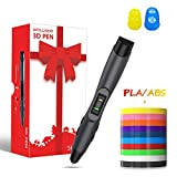 3D Pen, 3D Printer Pen with LED Display,USB Charging,Temperature Control & Speed Printing Control,Support 2 Types of Filament(PLA/ABS),Christmas Gift Box Version(Black)