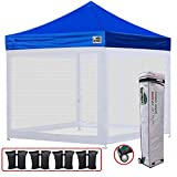 Eurmax Basic 10×10 Ez Pop up Canopy Screen Houses Shelter Commercial Tent with Mesh Walls and Roller Bag Review